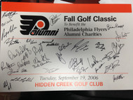 Philadelphia Flyers 2006 Fall Golf Classic Signed signed by Alumni