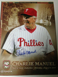 Charlie Manuel Autographed Phillies Wall of Fame Print