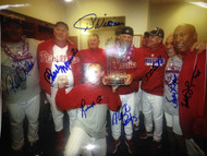 2008 World Champion Phillies Coaches 11 x 14 Photo signed by All
