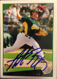 Andrew Bailey Autographed 2009 Topps #441