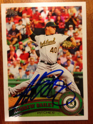 Andrew Bailey Autographed 2011 Topps Target #280