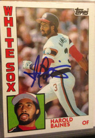 Harold Baines Autographed 1984 Topps #434