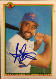 Harold Baines Autographed 1990 Bowman #501