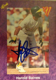 Harold Baines Autographed 1991 Classic #13