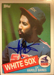 Harold Baines Autographed 1985 Topps #249
