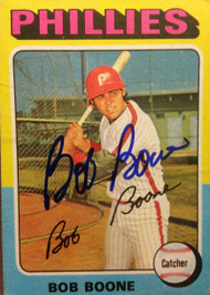 Bob Boone Autographed 1975 Topps #351