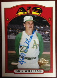 Dick Williams Autographed 2005 Topps Archives #10
