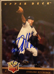 Sterling Hitchcock Autographed 1993 Upper Deck  #16 Rookie Card