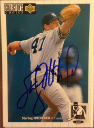 Sterling Hitchcock Autographed 1994 Collectors Choice #539