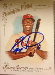 Ryan Howard Autographed 2014 Topps Allen & Ginter #270