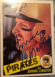 Johnnie LeMaster Autographed 1985 Topps Traded #74T