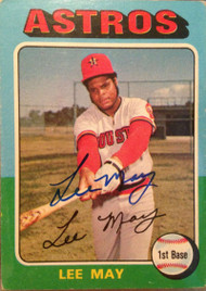 Lee May Autographed 1975 Topps #25