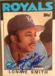 Lonnie Smith Autographed 1986 Topps #617