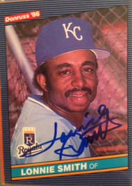 Lonnie Smith Autographed 1986 Donruss #399