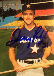 Terry Puhl Autographed 1990 Mothers Cookies #9