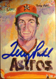 Terry Puhl Autographed 1986 Mothers Cookies #16