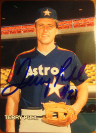 Terry Puhl Autographed 1987 Mothers Cookies #7