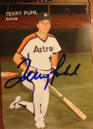 Terry Puhl Autographed 1984 Mothers Cookies #10