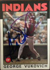 George Vukovich Autographed 1986 Topps #483