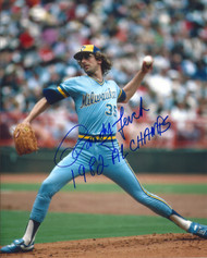 Randy Lerch Autographed Brewers 8 x 10 Photo 2