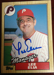 Lee Elia Autographed 1987 Topps Traded #32T