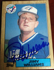 Jimy Williams Autographed 1987 Topps #786