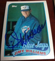 Jimy Williams Autographed 1989 Topps #594