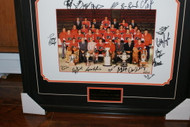 1974-75 Flyers Signed 16 x 20 Team Photo Framed