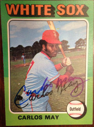 Carlos May Autographed 1975 Topps Mini #480