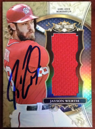Jayson Werth Autographed 2013 Topps Triple Threads Unity Jumbo Relics Limited Edition 5/36