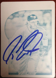 Jayson Werth Autographed 2015 Topps Gypsy Queen #173 PRINTING PLATE 1/1 Only one in the World