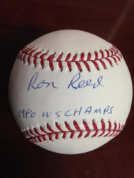 SOLD 2648 Ron Reed Autographed ROMLB Baseball 1980 World Champs