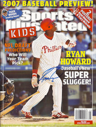 SOLD 2653 Ryan Howard Autographed May 2007 Sports Illustrated For Kids No Label