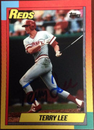 Terry Lee Autographed 1990 Topps Style Custom Card