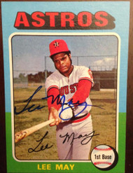 Lee May Autographed 1975 Topps Mini #25