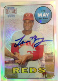 Lee May Autographed 2002 Topps Archives Reserves #26 of 100