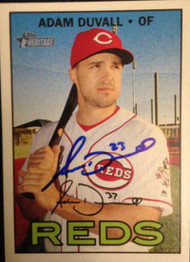 Adam Duvall Autographed 2016 Topps Heritage #656A