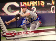 Adam Duvall Autographed 2017 Topps #128