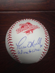 "Paul O'Neill ""Wire to Wire"" Autographed Rawlings Official 1990 World Series Baseball"