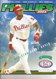 Bobby Abreu 2004 Philadelphia Phillies Magazine Program