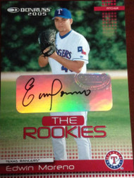 Edwin Moreno Autographed 2005 Donruss Rookies #7