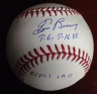 Tom Browning Autographed ROMLB PG 9-16-88 Reds 1 LA 0