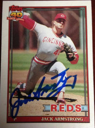 Jack Armstrong Autographed 1991 Topps #175