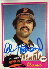 Al Holland Autographed 1981 Topps #213