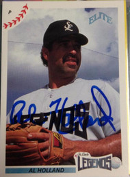 Al Holland Autographed 1990 Elite Senior Professional Baseball League #114