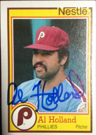 Al Holland Autographed 1984 Topps Nestle Dream Team #22