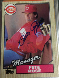 Pete Rose Autographed 1987 Topps #393