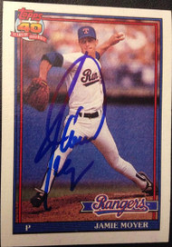 Jamie Moyer Autographed 1991 Topps #138