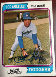 Davey Lopes Autographed 1974 Topps #112