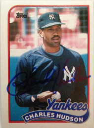 SOLD 3318 Charles Hudson Autographed 1989 Topps #236